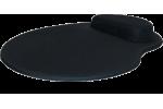 Mouse Pad Ergonômico Tecido Preto Sem Impressão Gota