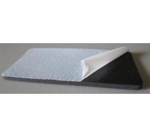 Borracha de PVC adesivada