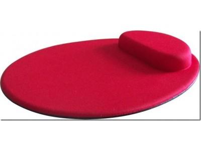 Mouse Pad Ergonômico Tecido Preto Sem Impressão Redondo