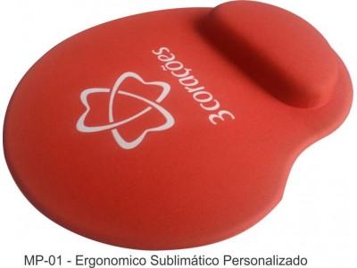 Mouse Pad Ergonômico Tecido Sublimático Personalizado Gota