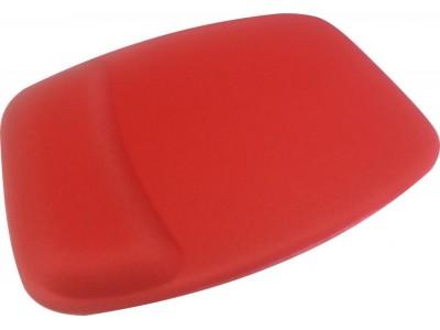 Mouse Pad Ergonômico Tecido Vermelho Sem Impressão Retangular