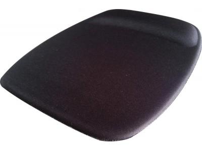 Mouse Pad Ergonômico Tecido Preto Sem Impressão Retangular