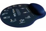 Mousepad Mouse Pad com Apoio Ergonômico Silicone Gel Personalizado e Laminado com PVC