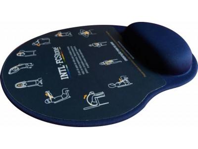 Mousepad Mouse Pad com Apoio Ergonômico Silicone Gel Personalizado e Laminado com...