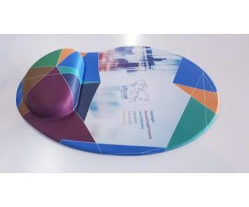 Mousepad Mouse Pad com Apoio Ergonômico Silicone Gel Personalizado Tecido Sublimação  - 4