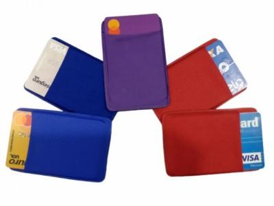 Porta Cartão Para Celular Em Lycra Varias Cores Estilo Nubank