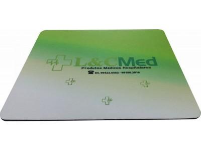 Mousepad Mouse Pad Personalizado Sublimação com Tecido e com Base de Borracha Frisada