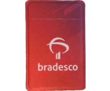 Porta Cartão Para Celular Em Lycra Estilo Nubank Personalizado com Adesivo  - 2