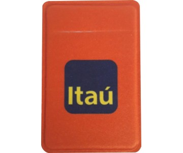 Porta Cartão Para Celular Em Lycra Estilo Nubank Personalizado com Adesivo  - 4