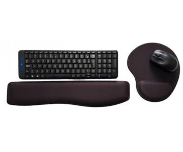 R$38,00 cada Kit- Acima de 50pçs-Mousepad Mouse Pad com Apoio Ergonômico + Apoio para Punho Teclado sem Impressão com Tecido  - 3