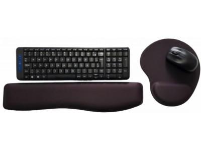 R$38,00 cada Kit- Acima de 50pçs-Mousepad Mouse Pad com Apoio Ergonômico + Apoio para Punho Teclado sem Impressão com Tecido