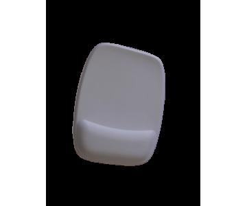 R$8,00 cada - Acima de 50pçs-Mousepad Mouse Pad com Apoio Ergonômico sem Impressão com Tecido Branco para Sublimação  - 6