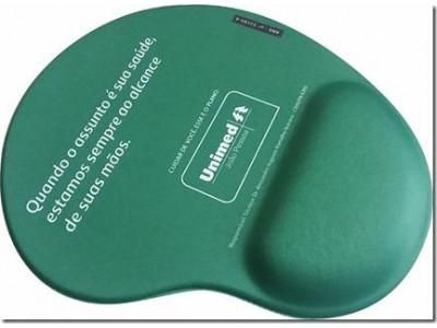 R$9,00 unitário para 500pçs - Mouse Pad Ergonômico em Tecido Personalizado