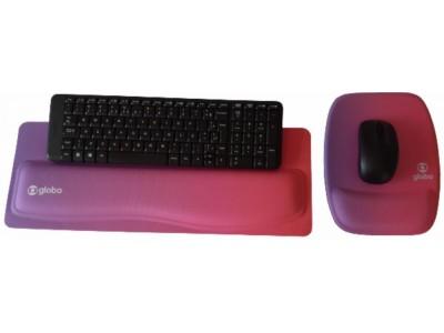 Apoio de Teclado Ergonômico Tecido Sublimático Personalizado + Mouse Pad Ergonômico Personalizado