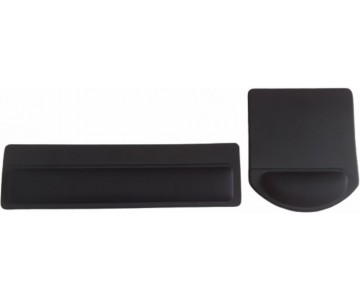Kit Mousepad Mouse Pad com Apoio Ergonômico + Apoio para Punho Teclado sem Impressão com Tecido  - 2