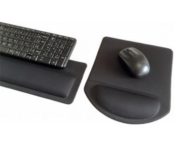 Apoio de Teclado Ergonômico Tecido Preto Sem Impressão - Espuma 16mm  - 2