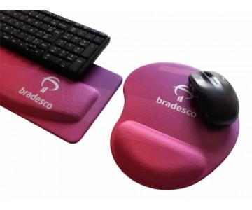 R$50,00 - Kit Apoio de Teclado Ergonômico Tecido Sublimático Personalizado + Mouse Pad Ergonômico Personalizado    - 2