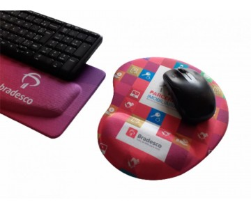 R$50,00 - Kit Apoio de Teclado Ergonômico Tecido Sublimático Personalizado + Mouse Pad Ergonômico Personalizado    - 3