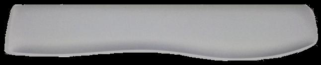 Apoio de Teclado Ergonômico Tecido Poliester Branco para Sublimação