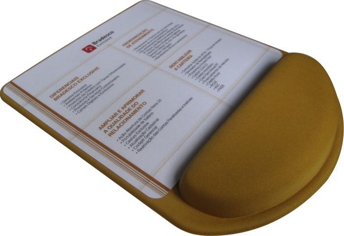 Mousepad Mouse Pad com Apoio Ergonômico Personalizado e Laminado com PVC