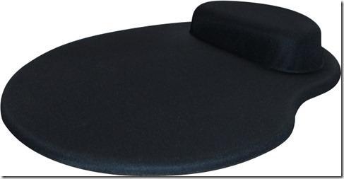 Mousepad Mouse Pad com Apoio Ergonômico Silicone Gel em Tecido Sem Impressão