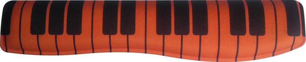 Apoio Teclado Ergonômico Laranja Estampado Teclado Piano Tecido Poliester