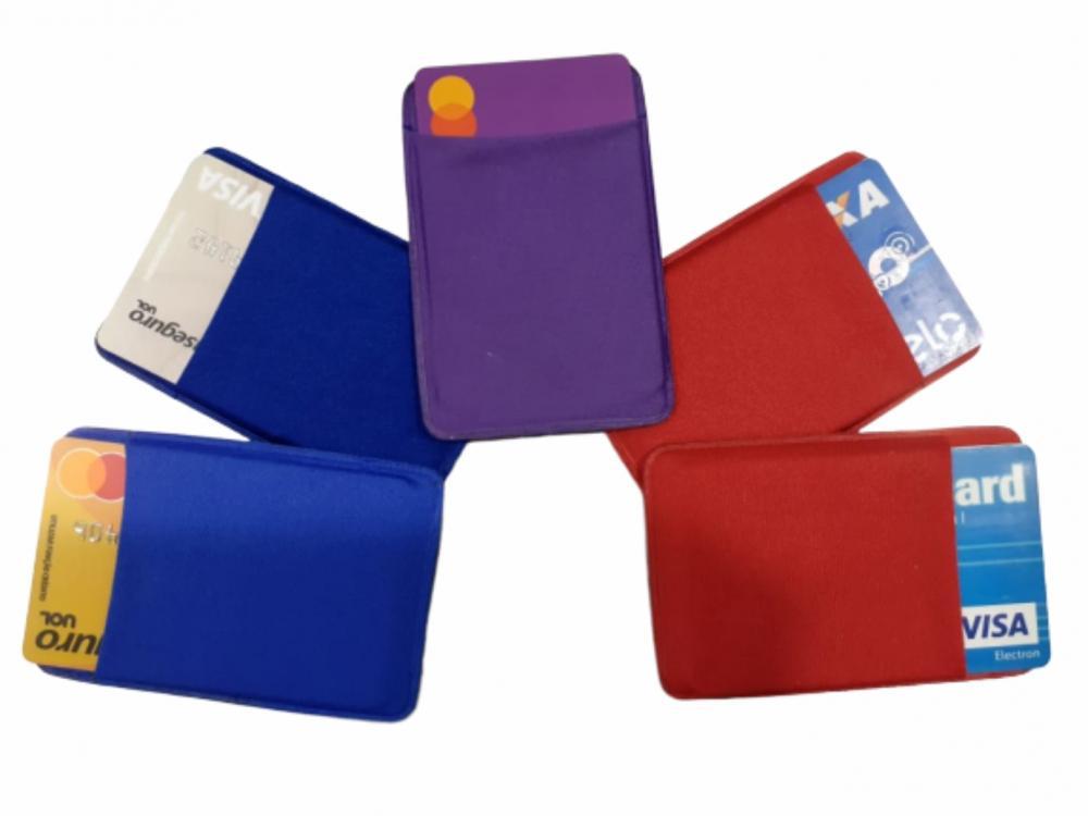 Porta Cartão Para Celular Em Lycra Estilo Nubank