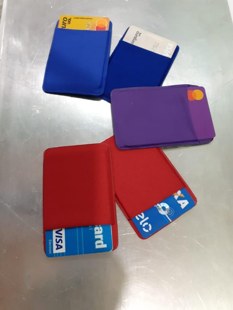 Porta Cartão Para Celular Em Lycra Estilo Nubank  - 2