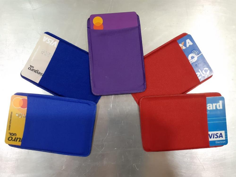 Porta Cartão Para Celular Em Lycra Estilo Nubank  - 13