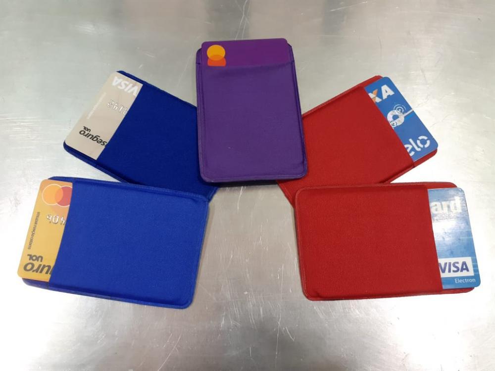 Porta Cartão Para Celular Em Lycra Estilo Nubank  - 4