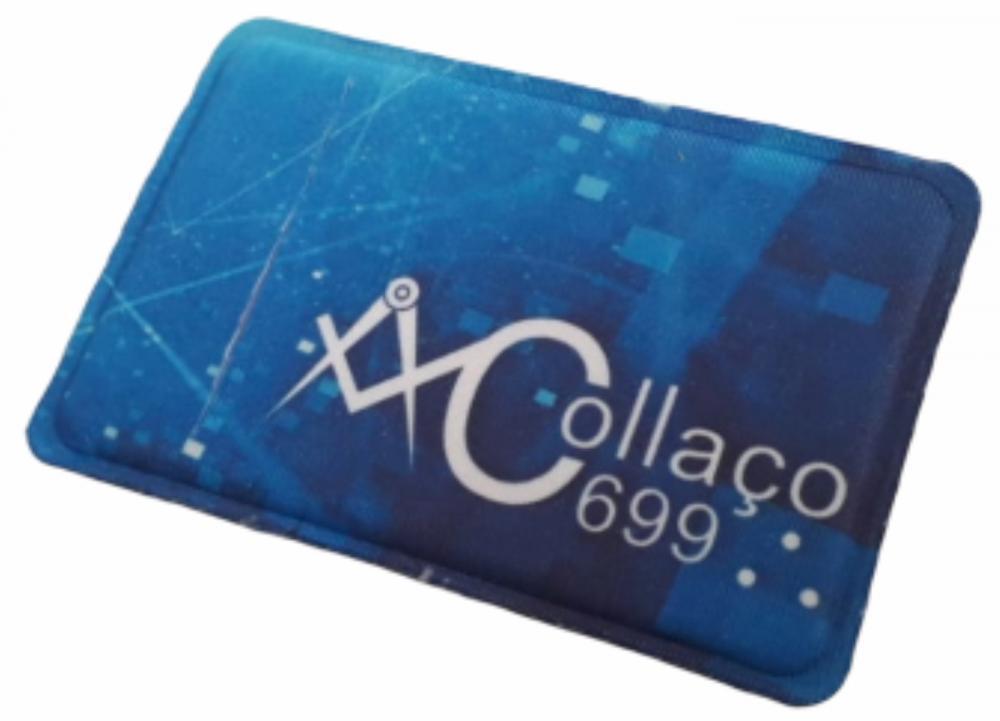 Porta Cartão Para Celular Em Lycra Estilo Nubank Personalizado com Adesivo  - 3