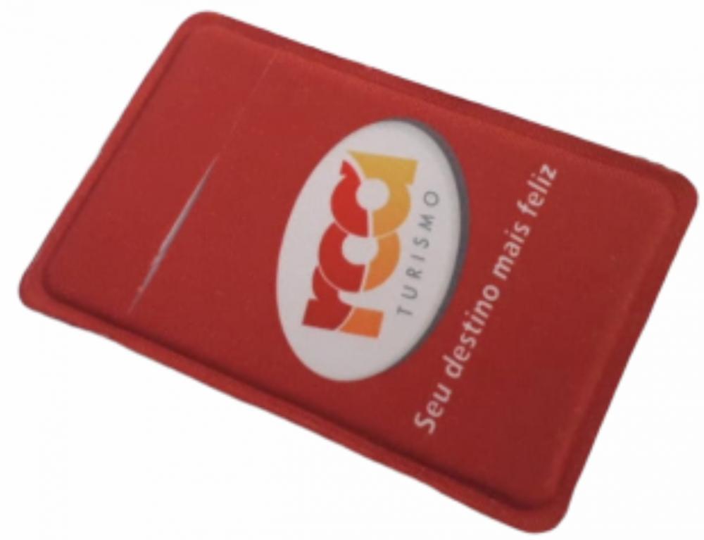 Porta Cartão Para Celular Em Lycra Estilo Nubank Personalizado com Adesivo  - 12