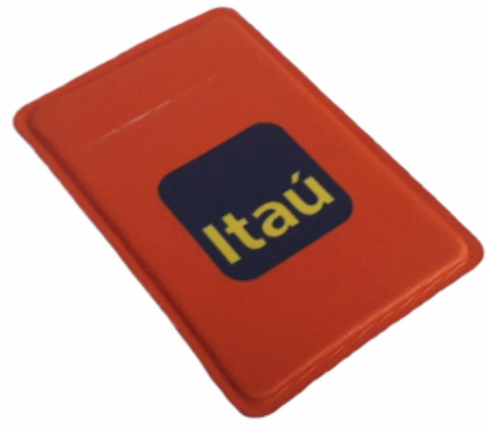 Porta Cartão Para Celular Em Lycra Estilo Nubank Personalizado com Adesivo