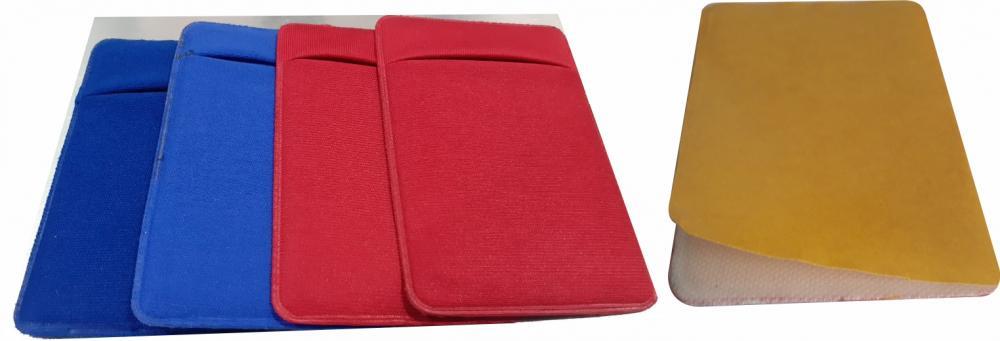 Porta Cartão Para Celular Em Lycra Varias Cores com Adesivo