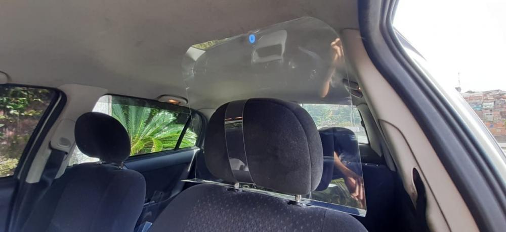 Placa Proteção Motorista Vírus Saliva Uber 99 Táxi Cabify  - 3