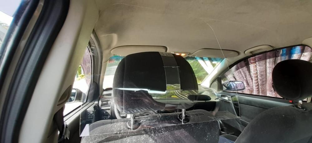 Placa Proteção Motorista Vírus Saliva Uber 99 Táxi Cabify  - 4