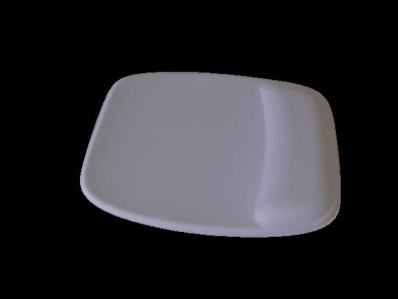 R$8,00 cada - Acima de 50pçs-Mousepad Mouse Pad com Apoio Ergonômico sem Impressão com Tecido Branco para Sublimação  - 4