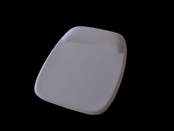 R$8,00 cada - Acima de 50pçs-Mousepad Mouse Pad com Apoio Ergonômico sem Impressão com Tecido Branco para Sublimação  - 7