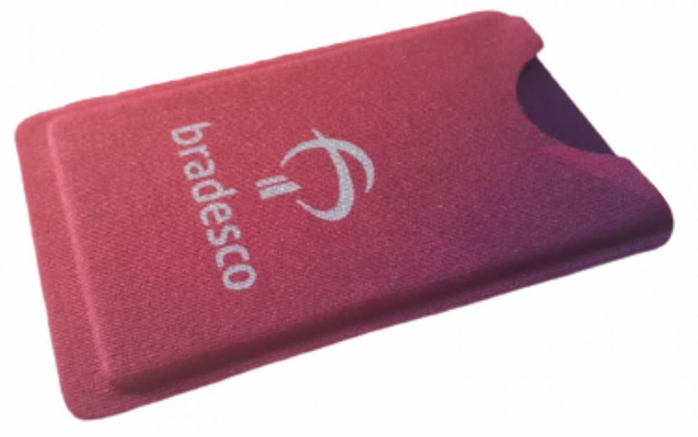 R$4,00 unitário -Acima de 500pçs-Porta Cartão Para Celular Em Lycra Estilo Nubank Personalizado sem Adesivo  - 2