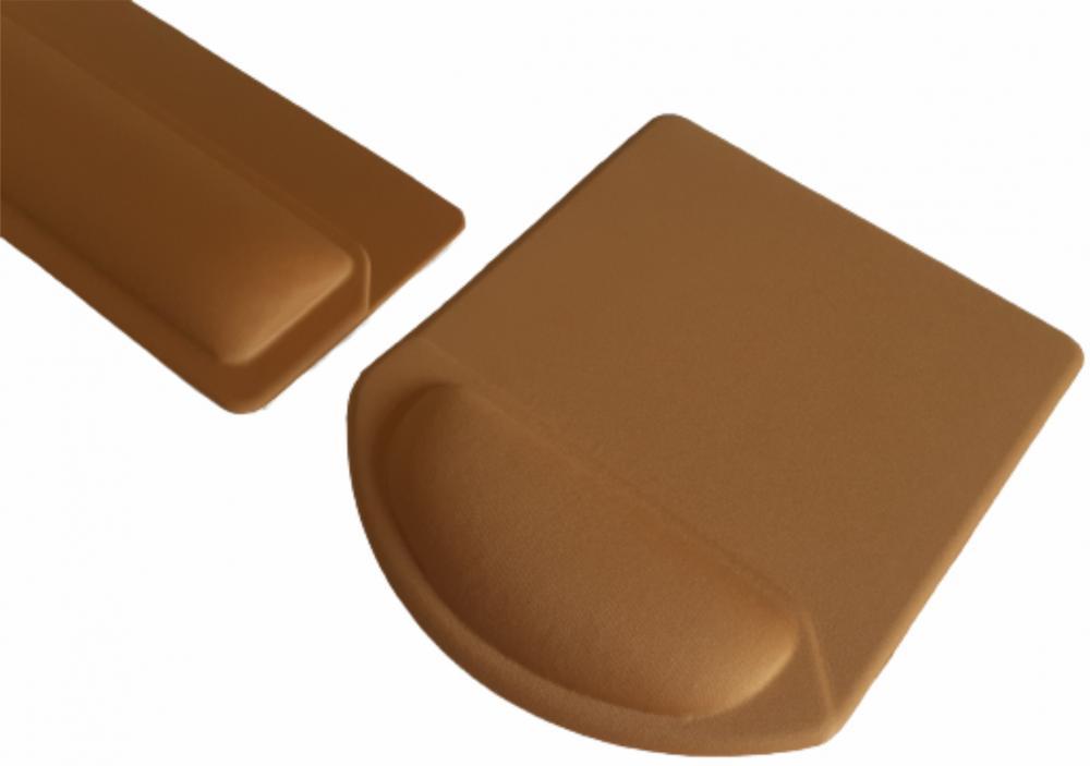 Apoio de Teclado Ergonômico Tecido Amarelo Ouro Sem Impressão  - 5