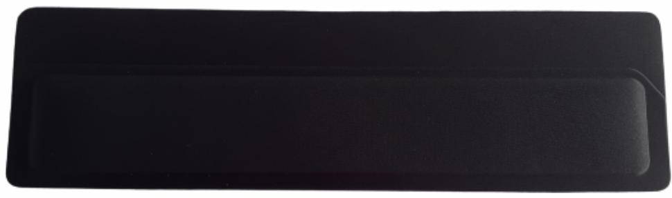 Apoio de Teclado Ergonômico Tecido Preto Sem Impressão - Espuma 16mm  - 4