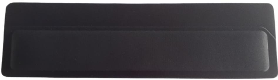 Apoio de Teclado Ergonômico Tecido Preto Sem Impressão - Espuma 16mm