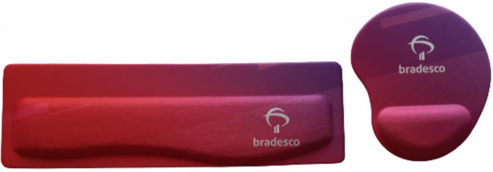 R$50,00 - Kit Apoio de Teclado Ergonômico Tecido Sublimático Personalizado + Mouse Pad Ergonômico Personalizado    - 5